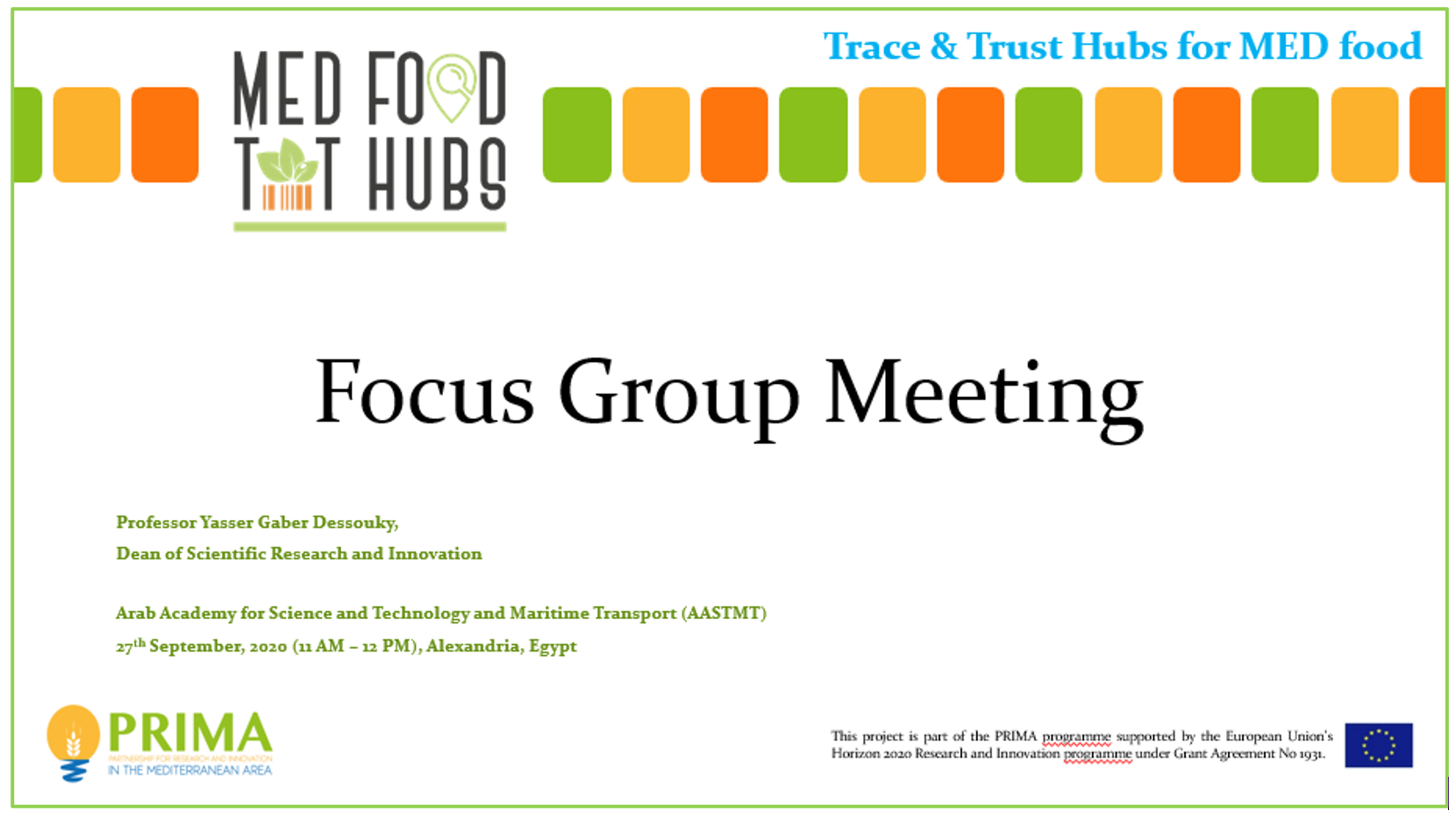 Focus group meeting for Egypt